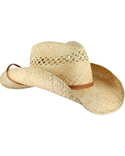Stetson Unisex Bridger Straw Hat Natural Medium