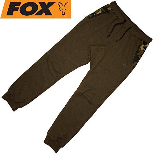 FOX Chunk Dark Khaki Camo Joggers - Angelhose für Karpfenangler & Wallerangler, Jogginghose, Anglerhose für Angler, Sporthose, Größe:XL