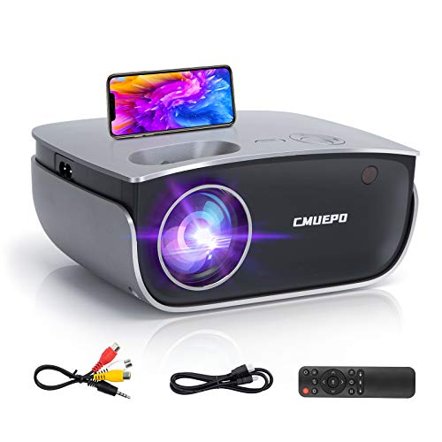 Mini Projector - Portable Movie Projector, 5500 Lumen & 1080P Supported Video Projector Compatible with Android/iOS/HDMI/USB/VGA/Fire TV