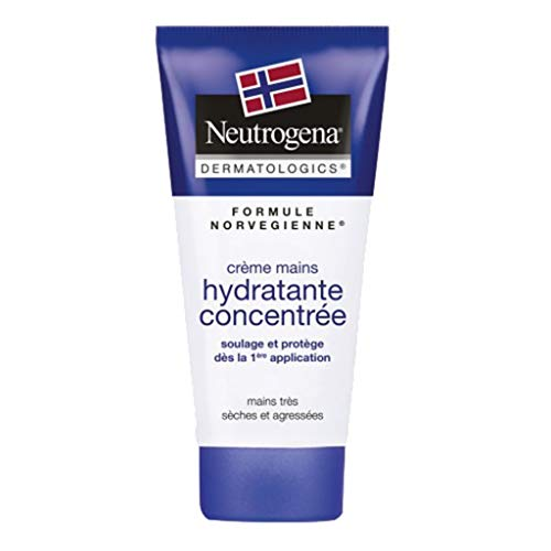 Neutrogena Formule Norvégienne Crème Mains Hydratante Concentrée Mains Très Sèches et Agressées 75ml (lot de 2)