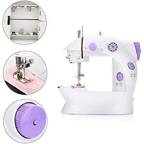 Buy Discount NSWD Electric Sewing Machine,Portable Sewing Tools with Light Easy Operation, Durable f...