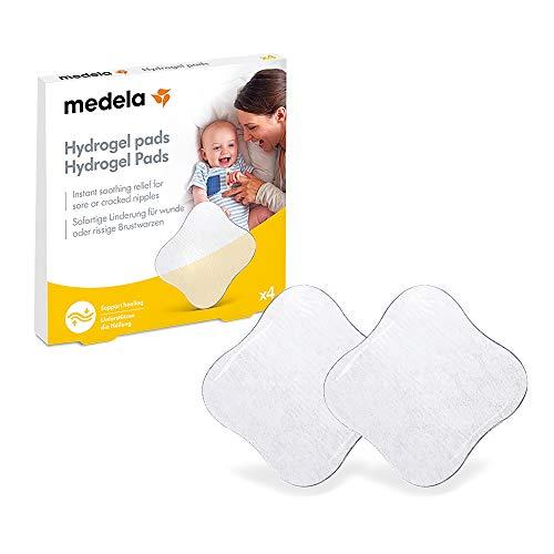 Medela Hydrogel/Kühl Pads, bei wunden und rissigen Brustwarzen, 4 Stück