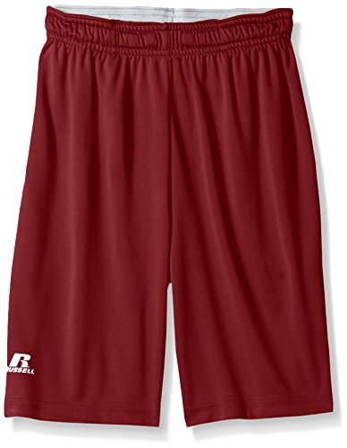 Russell Athletic Jungen Dri-Power Performance with Pockets Shorts, Scharlachrot, XL