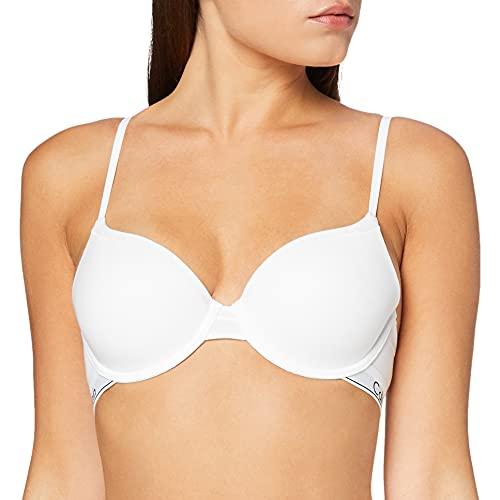 Calvin Klein T-Shirt-BH-Modern Cotton Sujetador, Blanco (White 100), 75B para Mujer