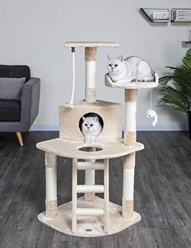 Price comparison product image Go Pet Club Cat Tree Condo House,  32W x 25L x 47.5H Inches,  Beige