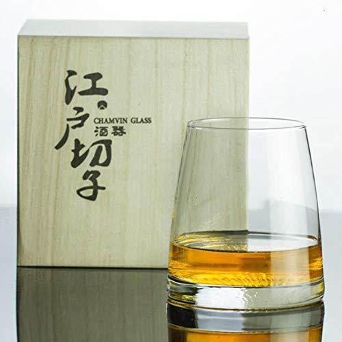 Whisky Vaso Set Japón Edo Kiriko Crystal Artwork Whisky Mug Mountain Moon...