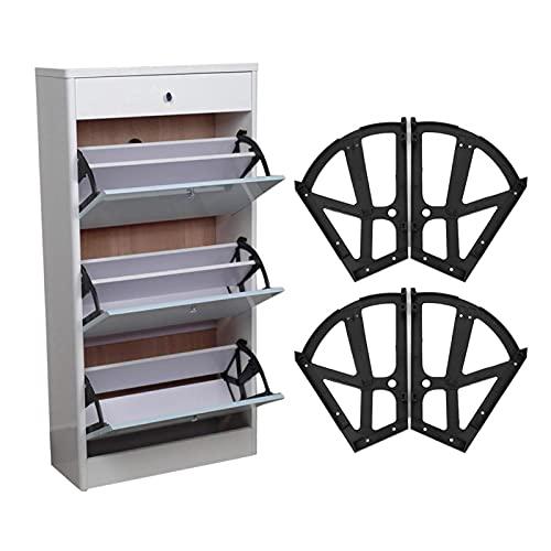 Bisagras para gabinete de zapatos, 4 unids/set, muebles para el hogar, cajón de zapatos bisagra para gabinete, marco de placa abatible, bastidor giratorio para aumentar capacidad del gabinete