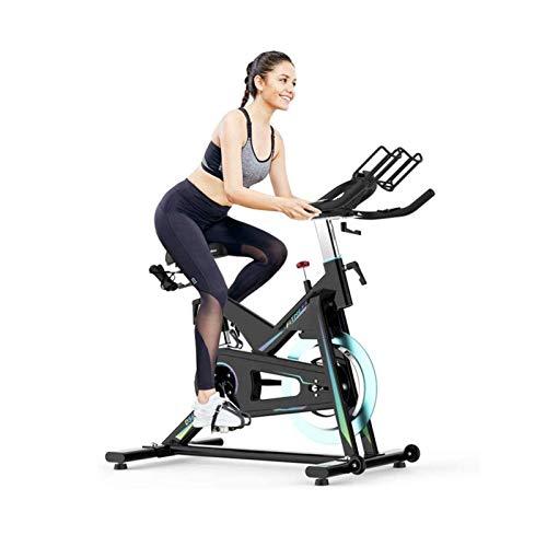 DJDLLZY Estación de bicicleta de entrenamiento, bicicleta interior con cómodo cojín de asiento, soporte para tablet y monitor LCD