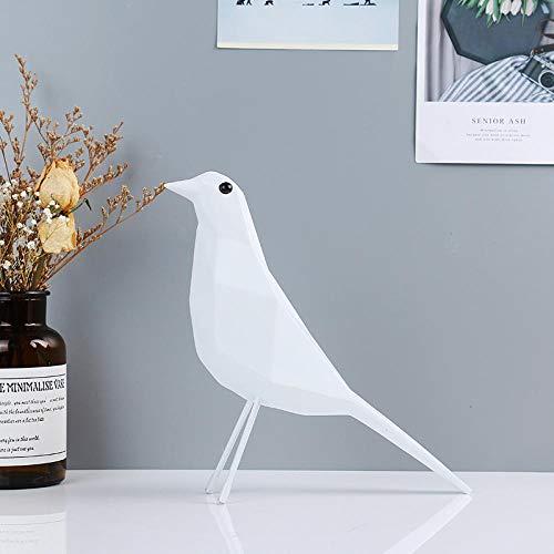 KJFSDH Estatua De Resina Bonita Estatua De Pájaro Decoración Animal Estatuilla Artesanías Escultura De Resina Abstracta Accesorios De Decoración del Hogar Adorno De Mesa-A