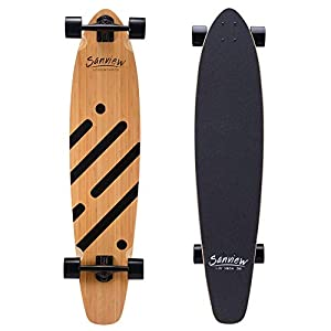 SANVIEW 42inch Complete Bamboo Longboard Skateboards
