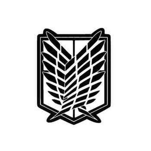 myrockshirt Attack On Titan SNK Recon Corps ca.15cm Hobby Aufkleber Sticker Aufkleber Autoaufkleber Sticker Decal ohne Hintergrund UV&Waschanlagenfest