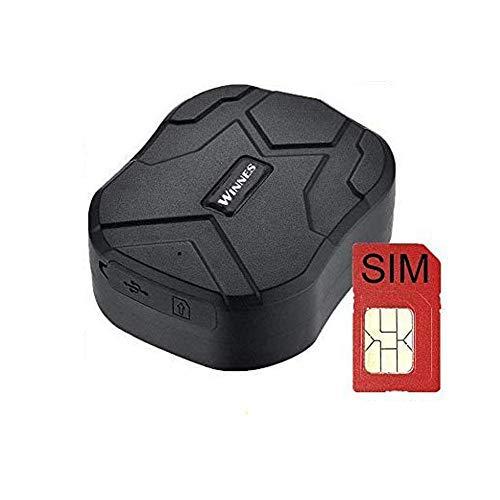 Localizador GPS con Tarjeta SIM,10000mAh GPS Tracker Tiempo Real Anti-ladrón Rastreador GPS Profesional App Gratuita para Seguimiento Vehículo