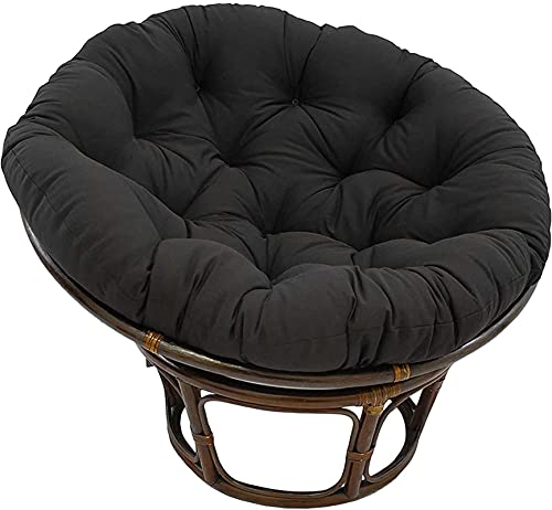 Cojín de la chaise Lounge, Cojín de silla de mecedora redonda suave de primera calidad, Cojín de asiento de radar de espuma de memoria original - verde 110x110cm ( Color : Black , Size : 120x120cm )
