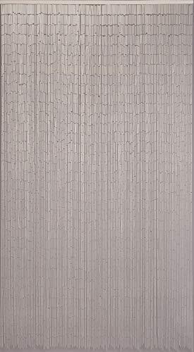 CONACORD Türvorhang Raumteiler Bambus Bambusvorhang Uni Weiß Fliegenvorhang Insektenschutz 120x220cm