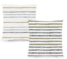 Decoratea Fundas Cojines 45x45 - Fundas de Cojín Decorativo (Juego de 2) para Sofá, Cama, Silla, Salón, Coche. Muy Suaves, Modernas y con Cremallera Invisible (Rayas Grises)
