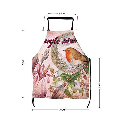 Antiguo mundo atrapamoscas para pájaros, divertidos delantales para hombres y mujeres, disfraz de criada de cocina
