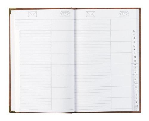 Adress-u. Telefonbuch mit 2 Messingecken