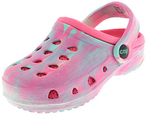 Capelli New York Toddler Girls Tie Dye Clog with Backstrap Pink 8/9