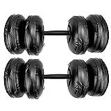 Belika Mancuernas llenas de Agua portátiles con Mancuernas llenas de Agua Brazo de Entrenamiento Muscular Peso Ajustable(16‑20KG Negro)