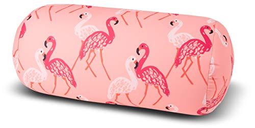 Kuschel-Maxx Relaxkissen Rolle Flamingo, rosa, 33x17, 5287