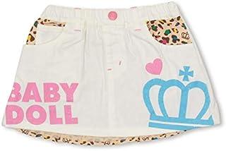 BABYDOLL(ベビードール)ヒョウ柄切替デニムスカート 1966K オフホワイト 110cm
