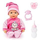 Bayer Design, 93809AA, Muñeco bebé Tears Baby, Cierra Ojos, llora lágrimas,...