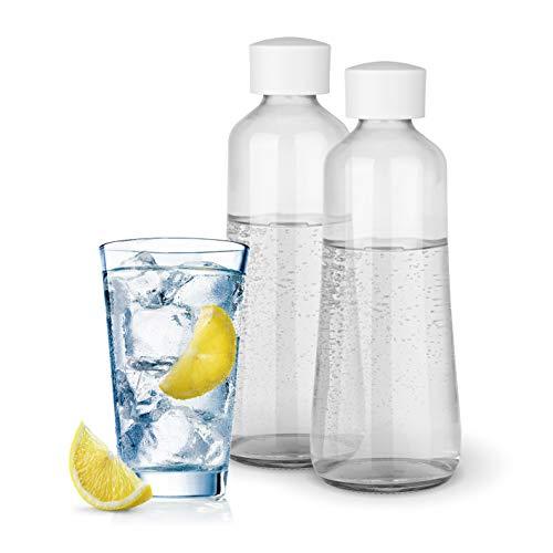 Soda Trend Glasflaschen 2er Set für Wassersprudler Sprudler ST2-G100 | Ersatzflaschen aus Glas, Ideal als Wechselflasche | Vermeidet Plastik-müll [Spülmaschinen geeignet, 2x720ml]