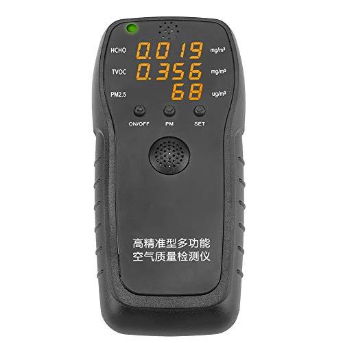 Formaldehyd Detektor Feinstaubmessgerät Hohe Präzision PM2.5 Luftqualität Messgerät Monitor für Home KFZ Outdoor Luft Testen
