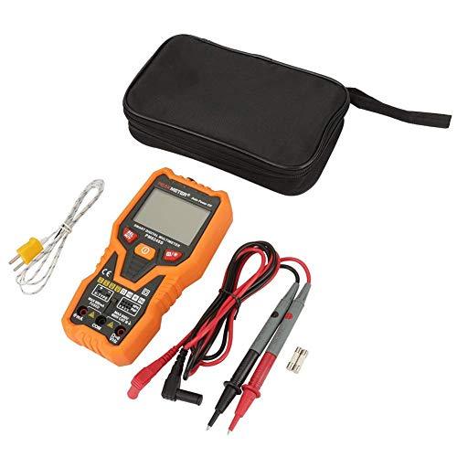 JHYS Multímetro de Rango automático, PEAKMETER PM8248S Multímetro Digital NCV de Rango automático Probador de Temperatura de Resistencia - Detección de Voltaje sin Contacto NCV - Linterna - Luz de f