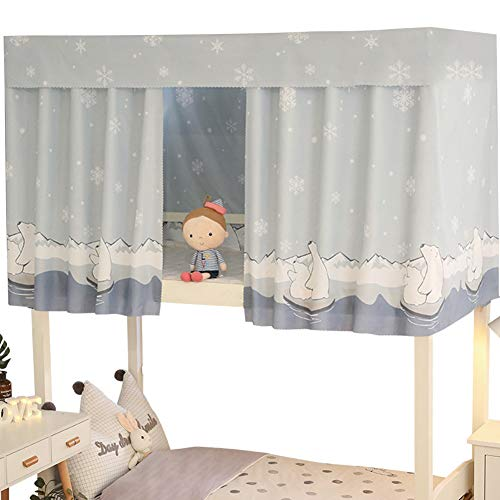 Tree2018 Bettvorhang, staubdicht, atmungsaktiv, für Studenten, Schlafsaal, bedruckt, für Zuhause, Schule, elegante Dekoration, Mückenschutz, Einzelbett (1)