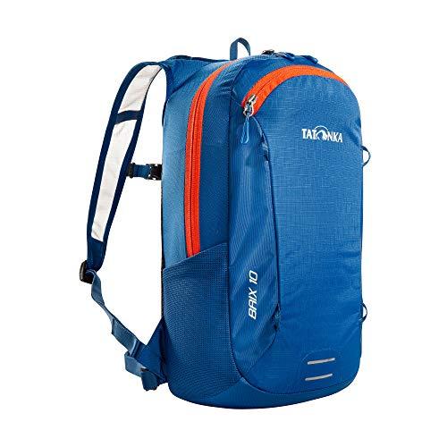 Tatonka Fahrradrucksack Baix 10L - Kleiner, leichter Outdoor-Rucksack mit Helmhalterung und 10 Liter Volumen - Herren und Damen - blau