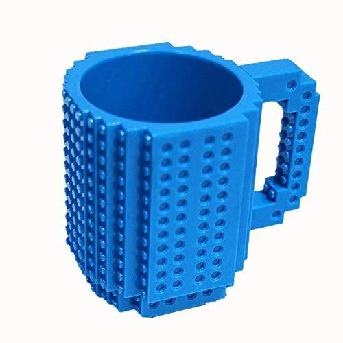 Mokken Blauw 350 ml Melkmok Koffiekop Bouwstenen mokken Bekers