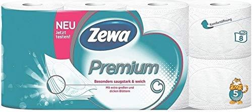Besonders weiches Premium Marken Toilettenpapier in 5-lagiger Ausführung. 8 Rollen zu je 110 Blatt in der Umverpackung. 880 Blatt, Klopapier