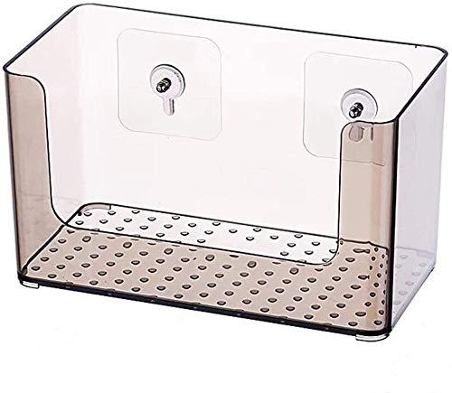 AINIYF Baño plataforma de baño ducha Organizador montado en la pared de la máscara del sacador libre de la caja de cosméticos de almacenamiento multifunción de escritorio transparente de plástico 1 Ni