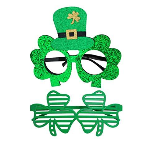Amosfun 2pcs St Patricks Tagesgläser Zylindergläser irische Gastgeschenke liefert Foto Requisiten