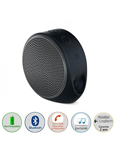 Logitech X100 Wireless Bluetooth Speakers (Black/Grey)
