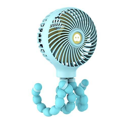 YWLINK♥♥PequeñO Ventilador PortáTil♥Dibujos Animados Creative Octopus 3 Mode Handheld Recargable 11 Horas De Trabajo Ventilador De Enfriamiento Enfriador De Aire