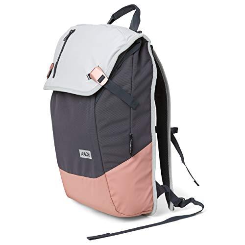 AEVOR Daypack - erweiterbarer Rucksack, ergonomisch, Laptopfach, wasserabweisend - Chilled Rose - Grau