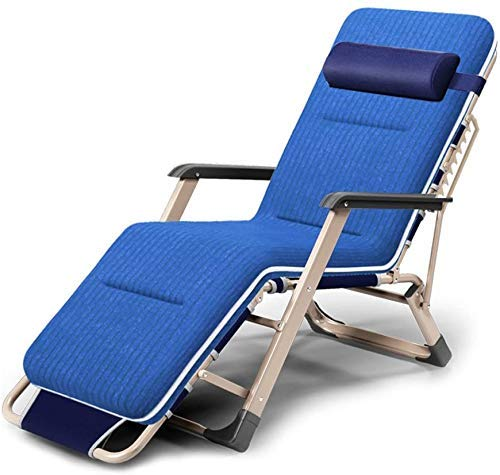LZMXMYS Silla de salón al aire libre, sillas reclinables al aire libre plegables Fold múltiples funciones de sillones reclinables Lazy Beach Silla de oficina Silla Siesta cama Hora de la almuerzo info