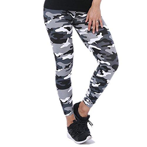 Tamskyt Damen-Leggings mit Camouflage-Aufdruck., weiß, One size