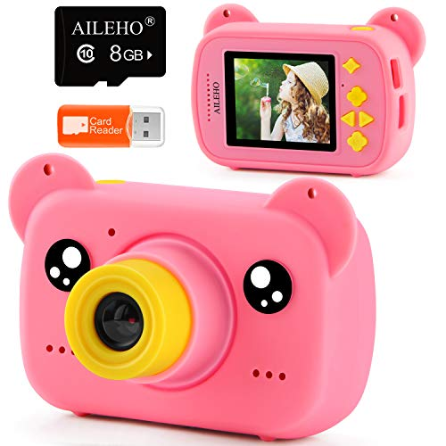 AILEHO Kids Camera for Girls Blue Bear Cartoon Birthday Children Toy...