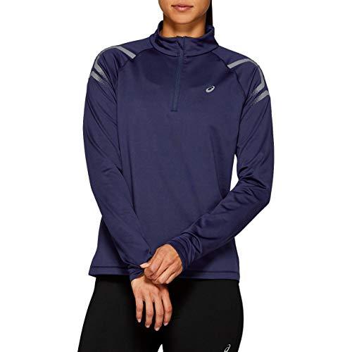 ASICS Damen Laufshirt - ICON Winter LS 1/2 Zip TOP - 2012A012 405 - in der Größe M