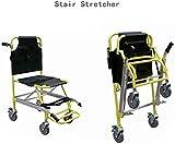 Camilla de escalera con orugas de aleación de aluminio, silla de evacuación de escalera ligera, silla de evacuación de ambulancia para bombero, elevador médico, silla de escalera plegable, 159 kg