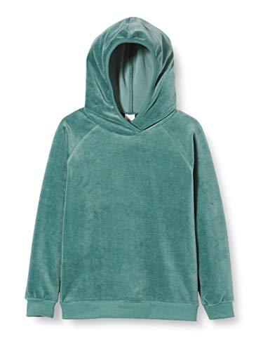 Fred's World by Green Cotton Jungen Velvet Hoodie Sweatshirt, Grün (Dream Green 018541001), (Herstellergröße: 122)