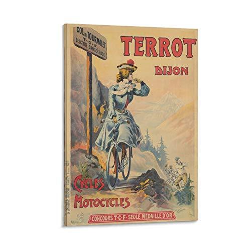 Terrot Dijon Cycles Ca 1902 Leinwand-Kunstdruck, Wandkunst, Poster und Wand/Kunstdruck, modernes Familienschlafzimmer, Badezimmer, Dekoration, Poster, wasserfest, 40 x 60 cm