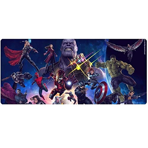 Gaming Mouse Pad Avengers Infinity War XXL Large Mouse Mat Keyboard Mat Extended Mousepad for Computer Desktop PC Laptop Mouse Pad (Color : Q, Size : 700x300x3mm)