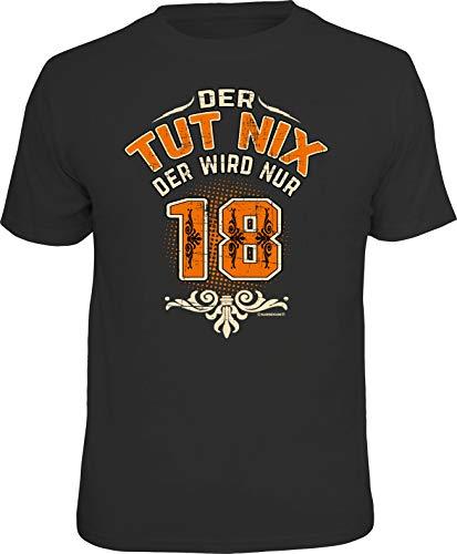Das Geschenk T-Shirt zum 18. Geburtstag - Endlich volljährig, Tut Nix, L