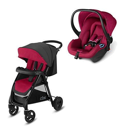 cbx 2-in-1 Reisesystem, Kinderwagen Misu Air TS + Babyschale Shima, Inkl. Regenverdeck und Adapter für Babyschale, Ab Geburt, Crunchy Red