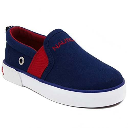 Nautica Fairwater Toddler Canvas Sneaker Slip-On Casual Shoes-Estate Blue-9