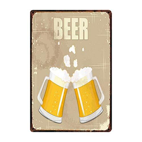 shovv Metall Zinn Zeichen Shop Plaque Metall Zinn Zeichen Vintage Bier Morgen Eiskaltes Bier Hier Poster Kunst Wandmalerei Dekor -W-1664_30 * 20Cm